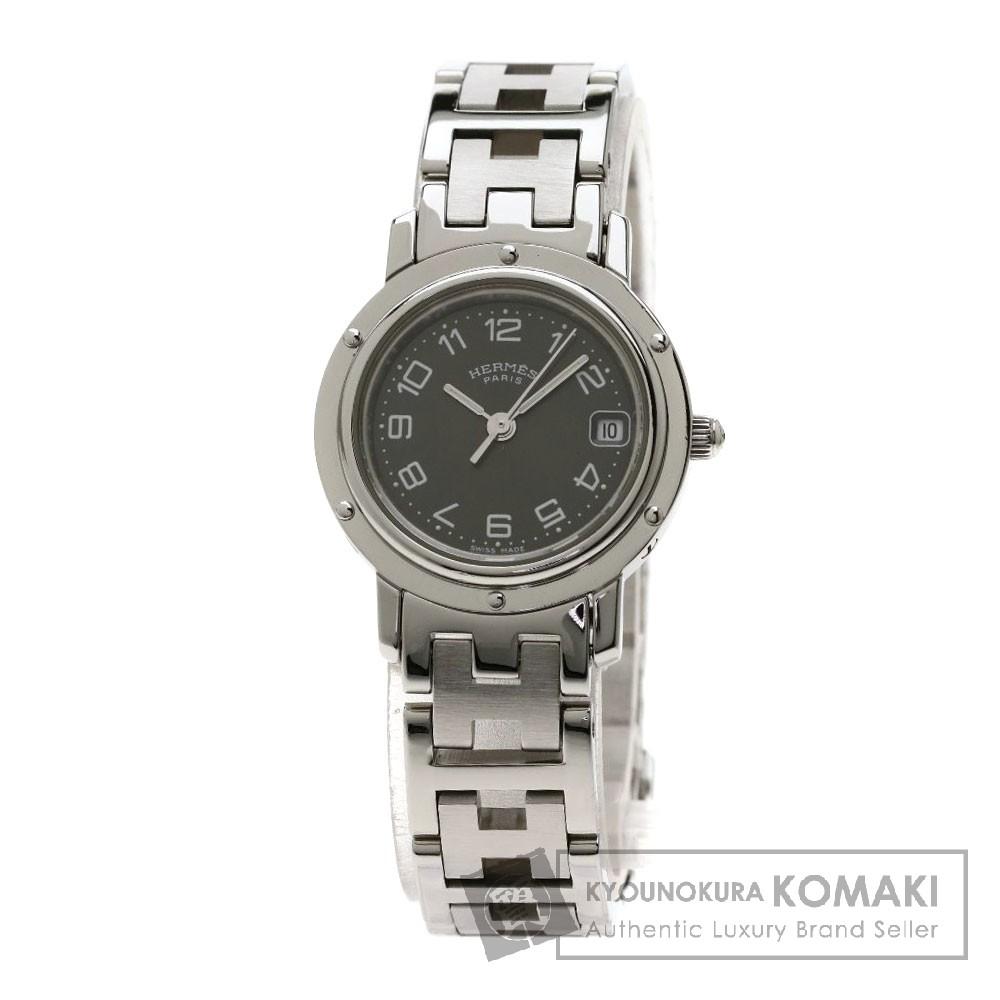 エルメス CL4.210 クリッパー 腕時計 ステンレススチール レディース 【中古】 【HERMES】