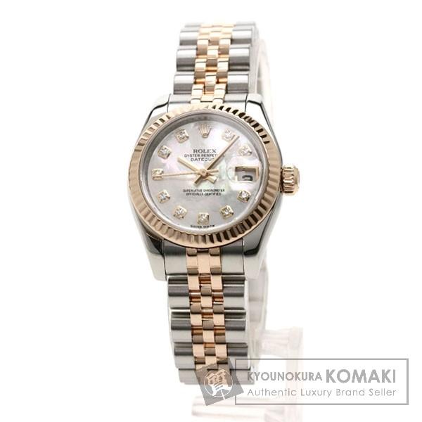 ROLEX 179171NG デイトジャスト 腕時計 OH済 ステンレススチール/K18PG レディース 【中古】【ロレックス】