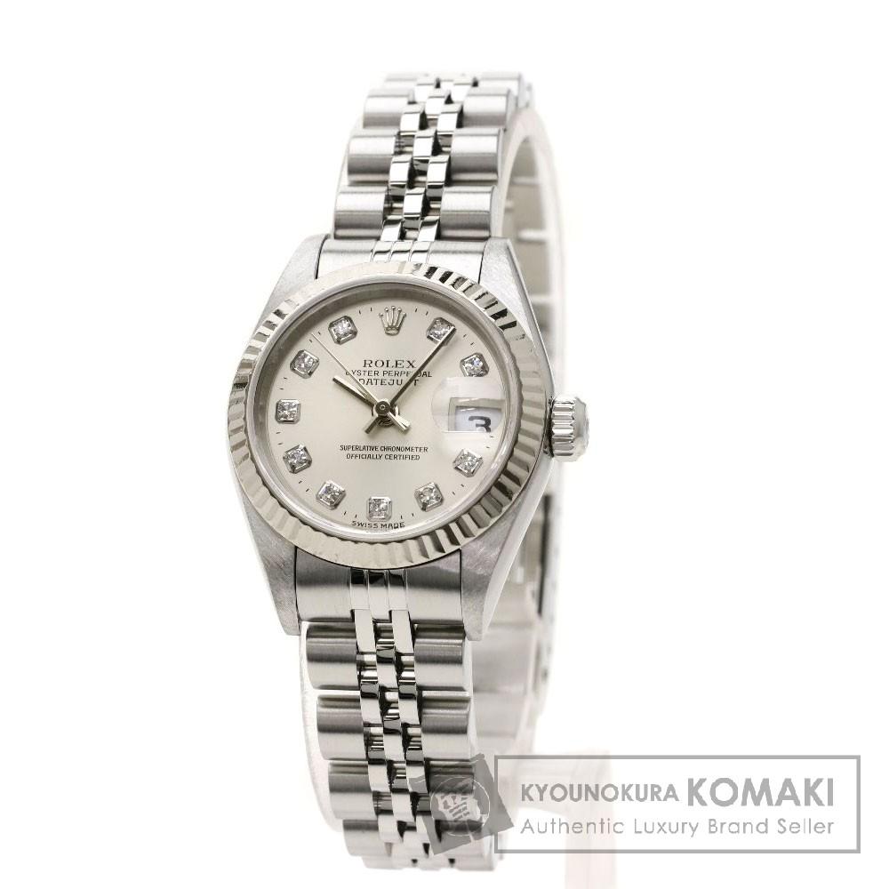 ROLEX 79174G デイトジャスト10Pダイヤモンド 腕時計 ステンレススチール/SS レディース 【中古】【ロレックス】, カツタグン 58610d6f