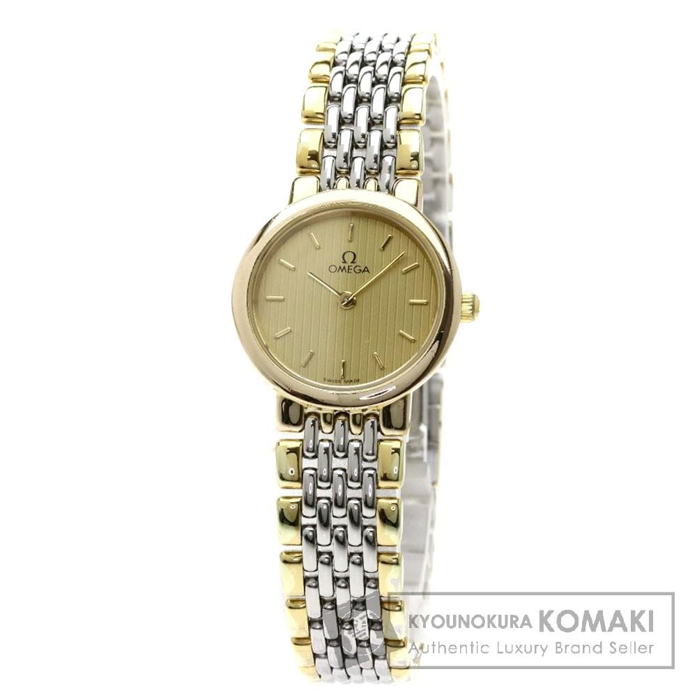 OMEGA デビル 腕時計 GP/SS レディース 【中古】【オメガ】