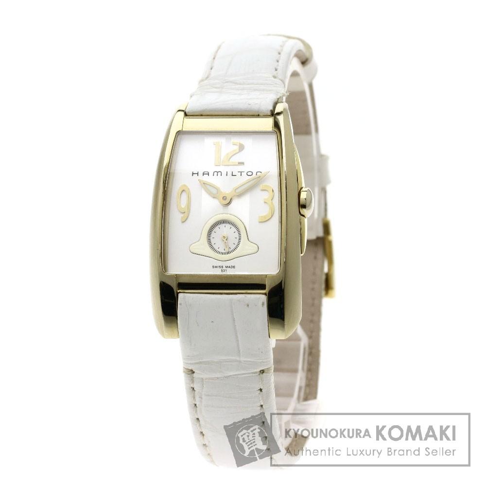 HAMILTON H33431953 ニュー ブルック 腕時計 GP/革 レディース 【中古】【ハミルトン】