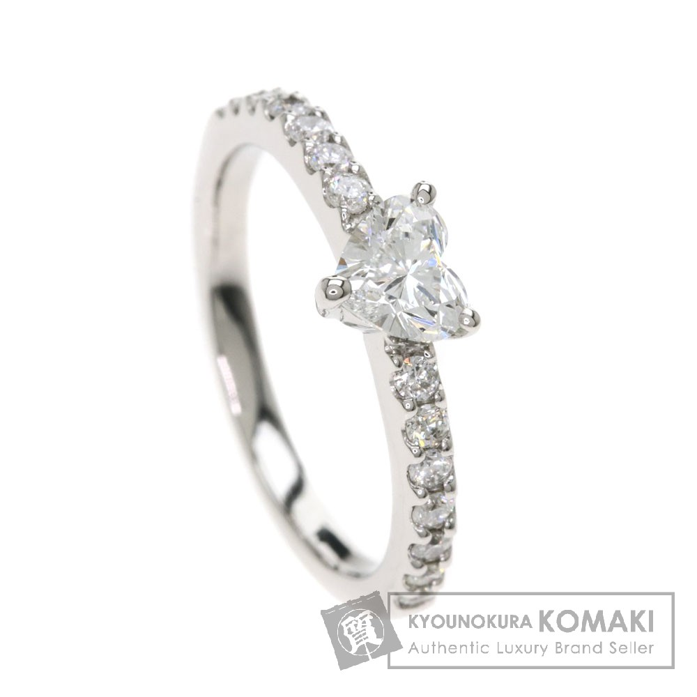 0.385ct ダイヤモンド/ハート リング・指輪 プラチナPT950 2.9g レディース 【中古】