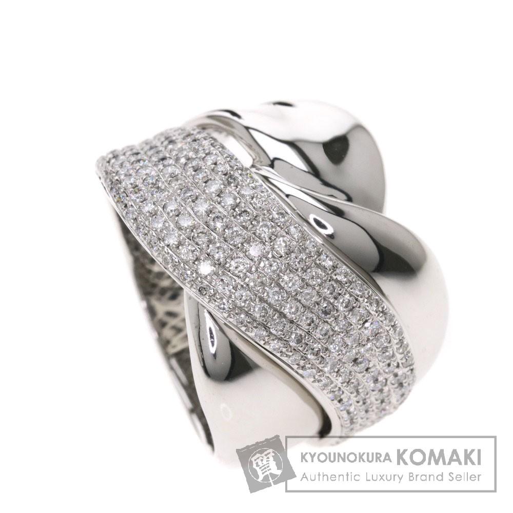 1ct メレダイヤモンド リング・指輪 K18ホワイトゴールド 13.7g レディース 【中古】