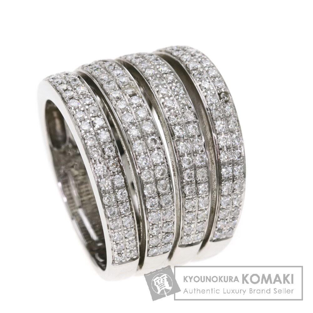 ダイヤモンド リング・指輪 K18ホワイトゴールド 12.2g レディース 【中古】