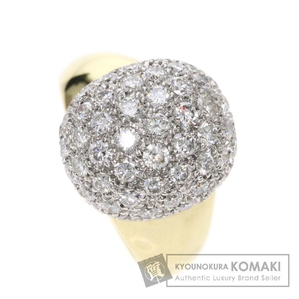 1.83ct メレダイヤモンド リング・指輪 K18イエローゴールド 8.8g レディース 【中古】