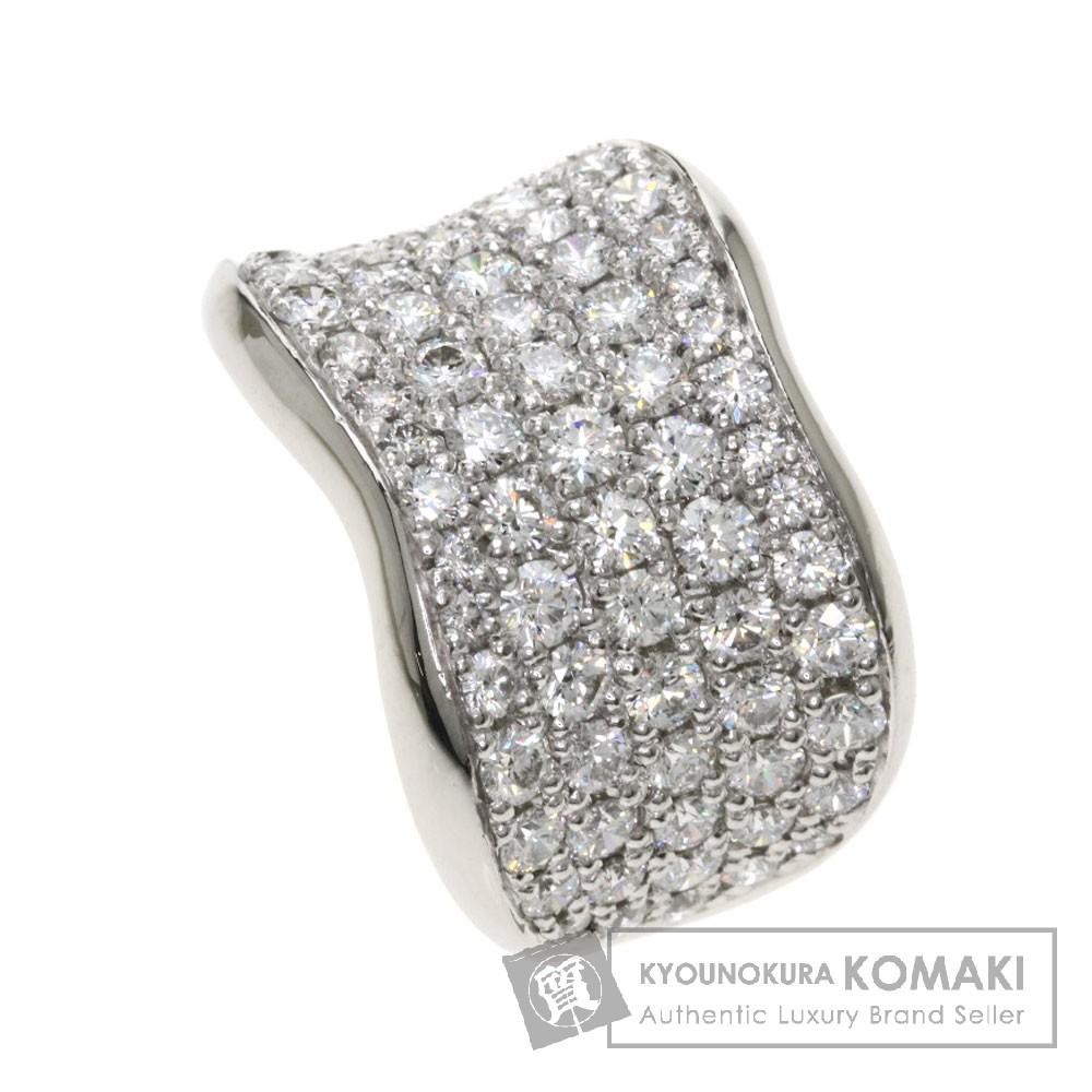 2.11ct メレダイヤモンド リング・指輪 プラチナPT900 12.1g レディース 【中古】