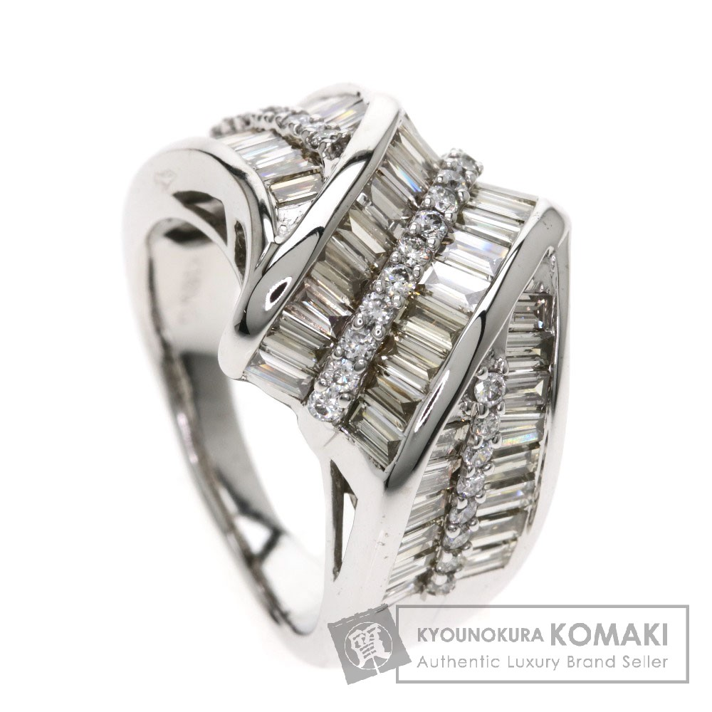 2.2ct メレダイヤモンド リング・指輪 K18ホワイトゴールド 10.2g レディース 【中古】
