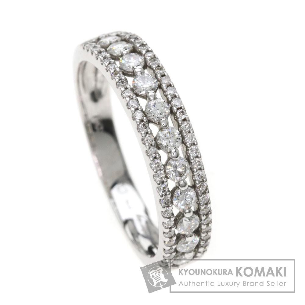 ダイヤモンド リング・指輪 K18ホワイトゴールド 3.2g レディース 【中古】