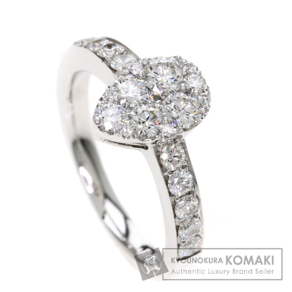 1.08ct メレダイヤモンド/しずくモチーフ リング・指輪 K18ホワイトゴールド 4.6g レディース 【中古】