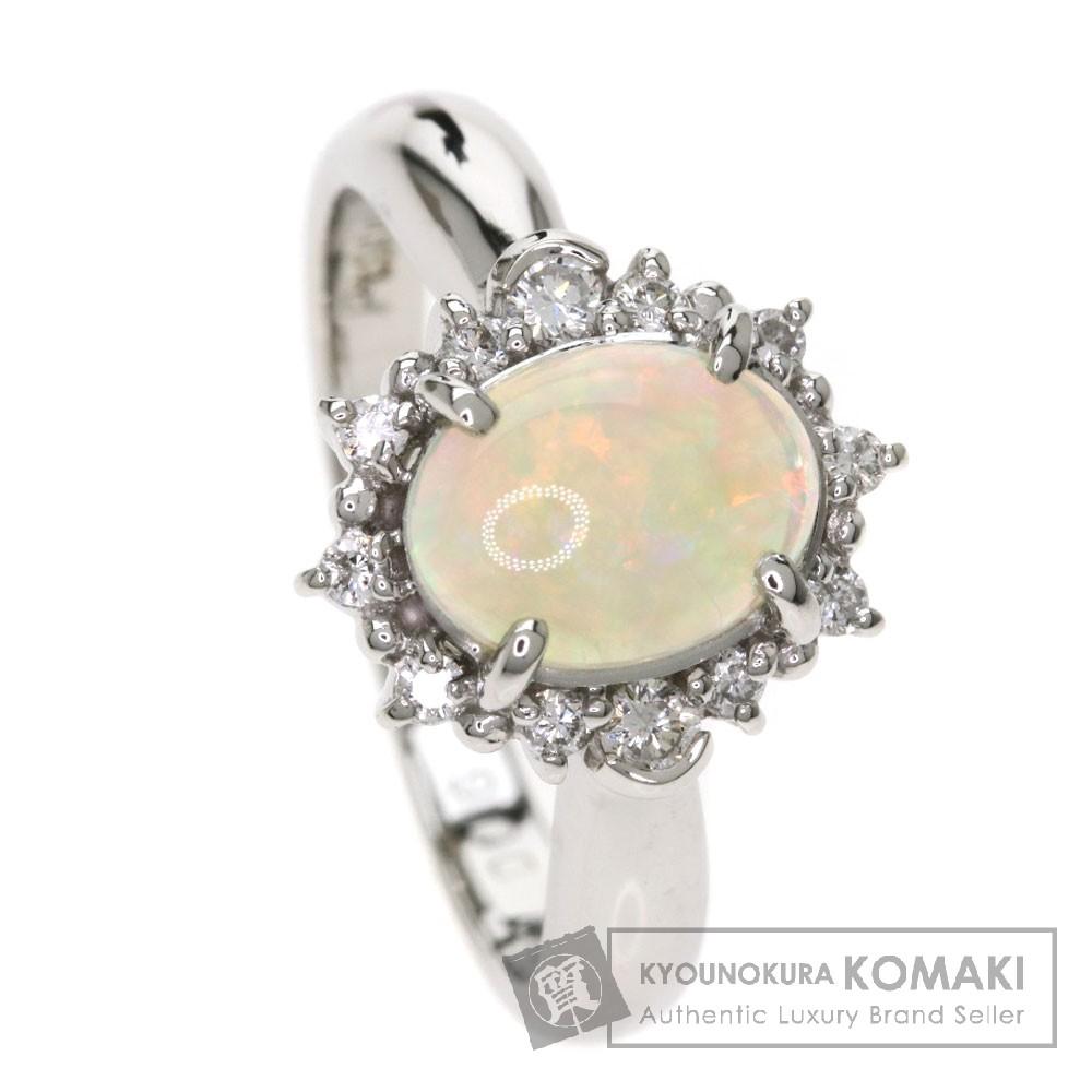 0.6ct オパール/ダイヤモンド リング・指輪 プラチナPT900 5.4g レディース 【中古】