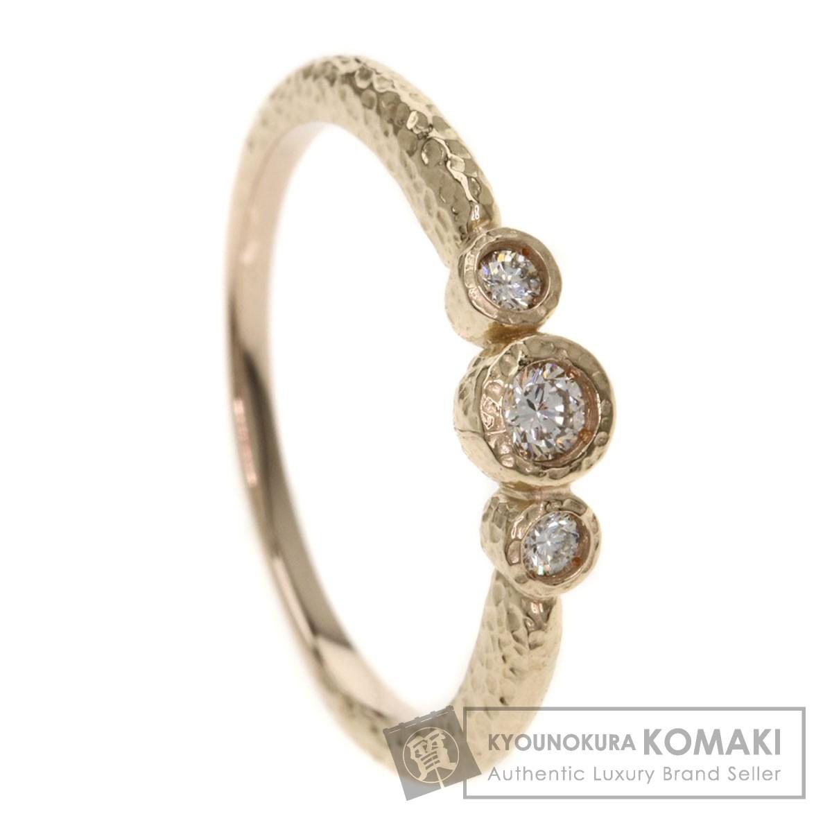 0.12ct メレダイヤモンド リング・指輪 K18イエローゴールド 2.4g レディース 【中古】