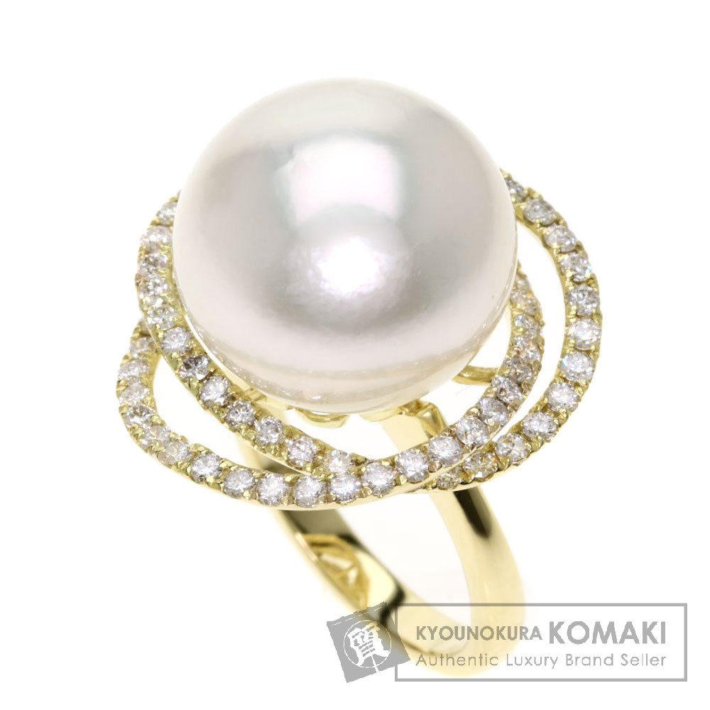 南洋パール/真珠/ダイヤモンド リング・指輪 K18イエローゴールド 14.1g レディース 【中古】
