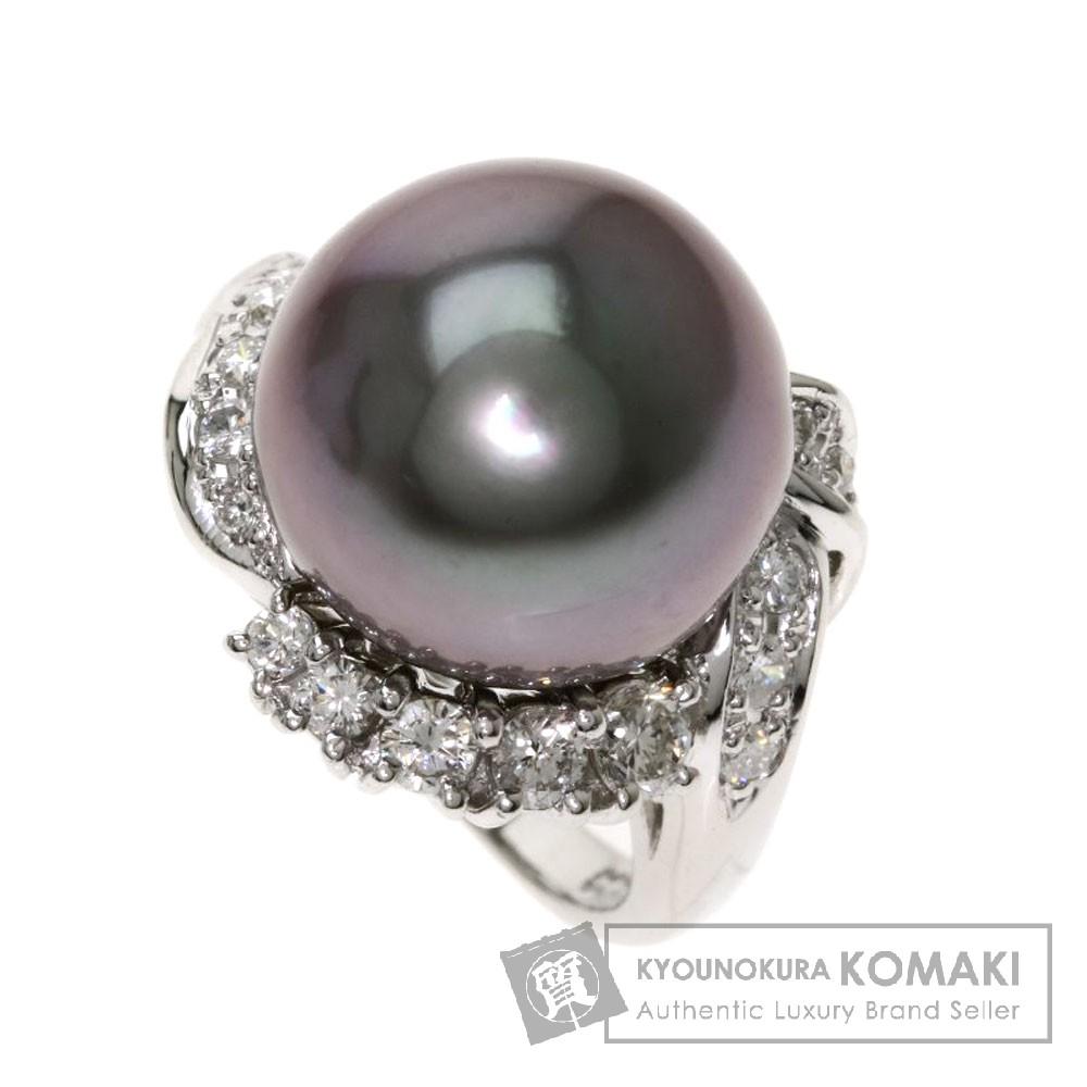 パール/真珠/ダイヤモンド リング・指輪 プラチナPT900 12.8g レディース 【中古】