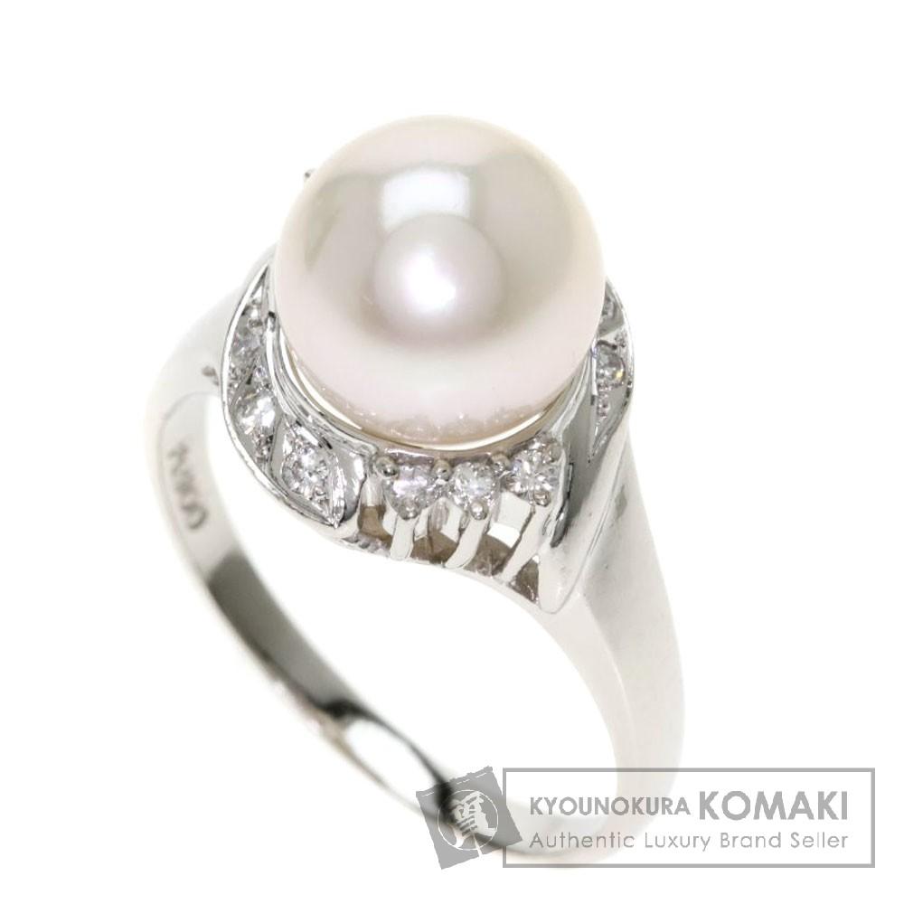 0.15ct パール/真珠/ダイヤモンド リング・指輪 プラチナPT900 6.2g レディース 【中古】