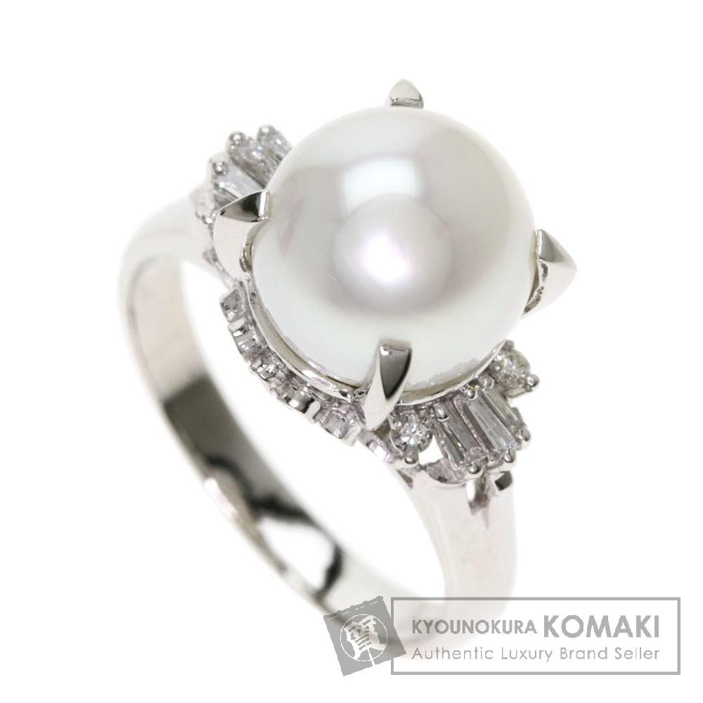 0.17ct パール/真珠/ダイヤモンド リング・指輪 プラチナPT900 7.9g レディース 【中古】