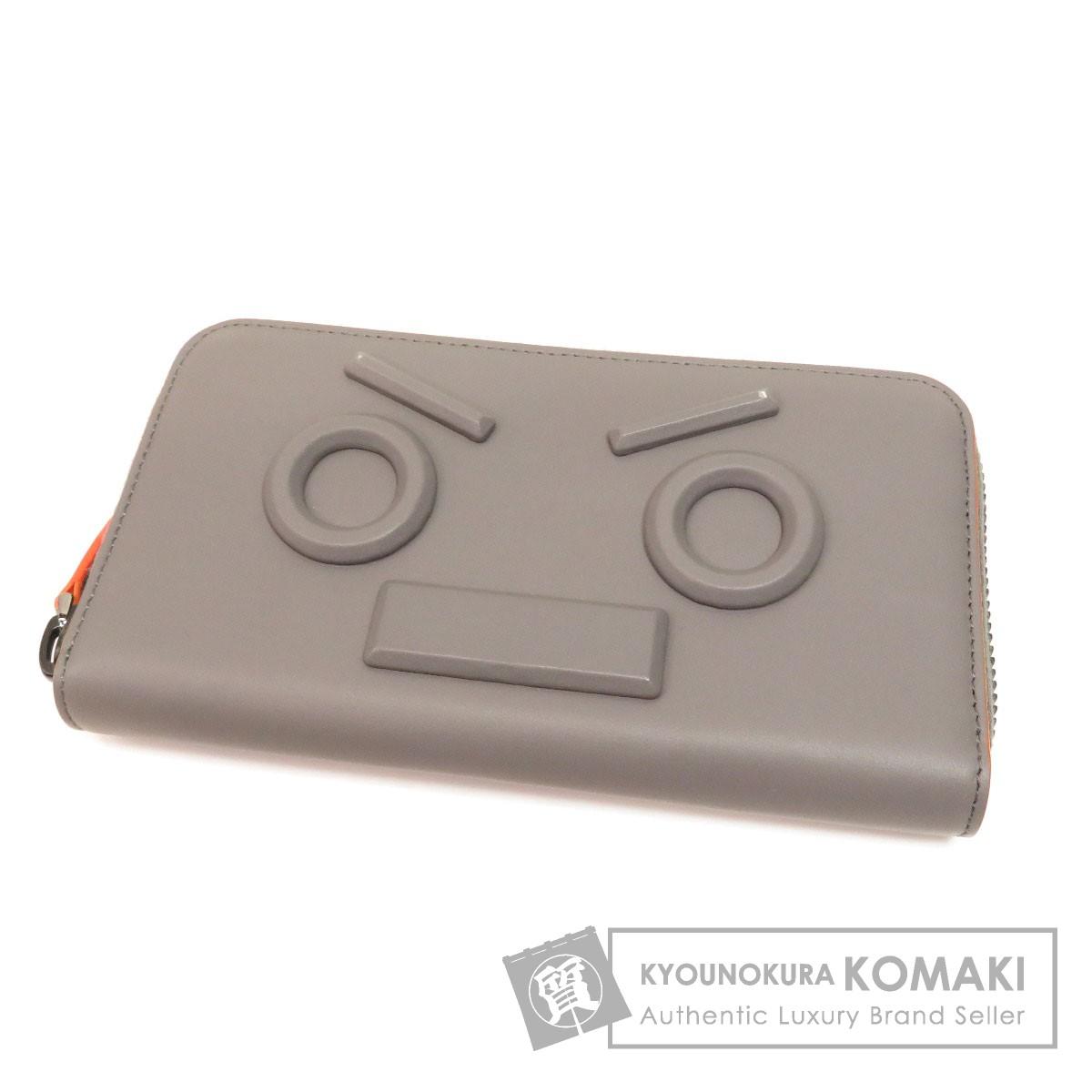 FENDI ロボット 長財布(小銭入れあり) レザー レディース 【中古】【フェンディ】