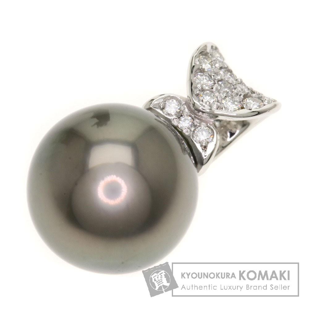 0.22ct ペンダントトップ/パール/真珠/ダイヤモンド ペンダント プラチナPT900 4.9g レディース 【中古】
