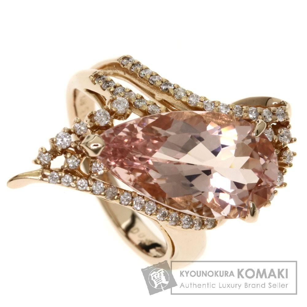 5.16ct モルガナイト/ダイヤモンド/しずくモチーフ リング・指輪 K18ピンクゴールド 6.8g レディース 【中古】