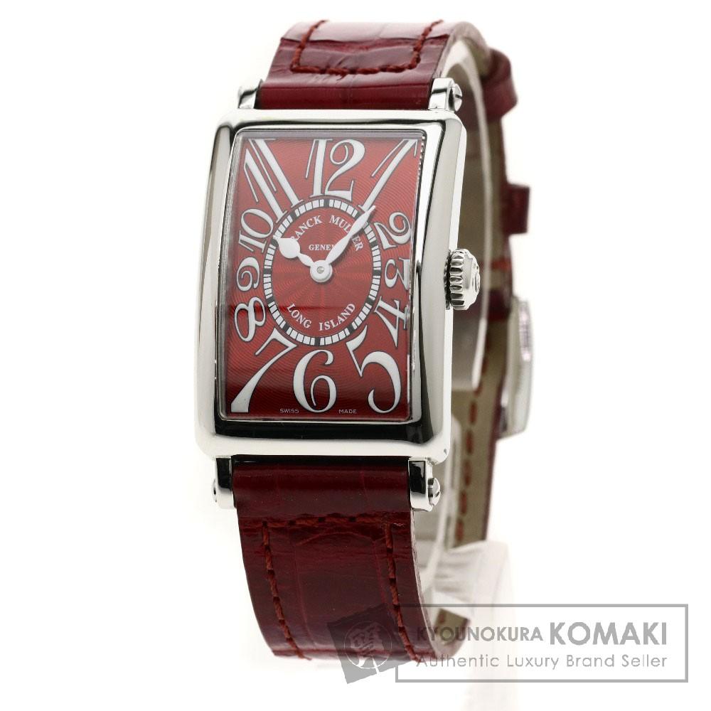 FRANCK MULLER 902QZ ロングアイランド 腕時計 ステンレススチール/レザー レディース 【中古】【フランクミュラー】