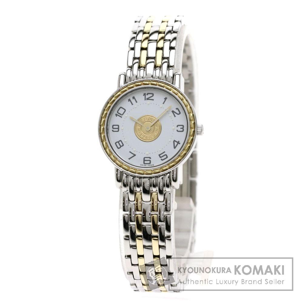 HERMES SE4.220 セリエ 腕時計 ステンレススチール/SSxGP レディース 【中古】【エルメス】