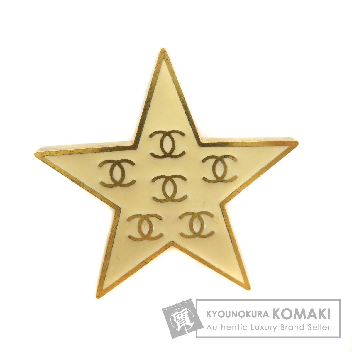 CHANEL スターモチーフ ココマーク ブローチ 金属製 レディース 【中古】【シャネル】