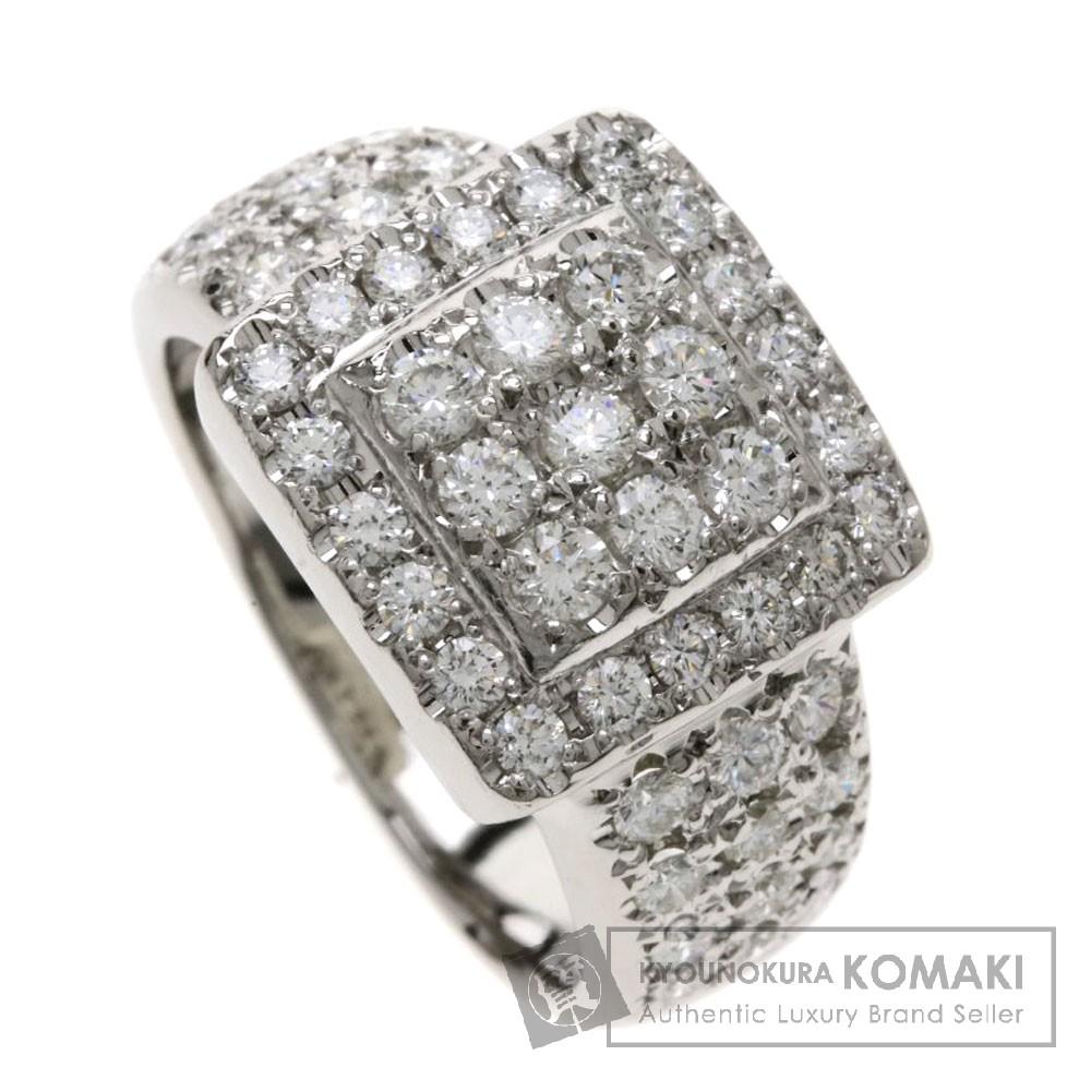 0.93ct メレダイヤモンド/スクエア リング・指輪 プラチナPT900 9.4g レディース 【中古】