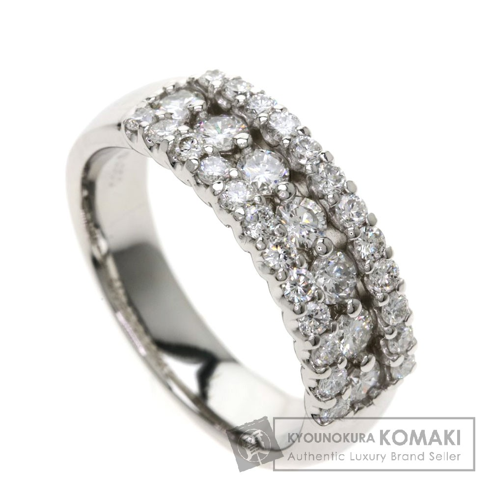 1ct メレダイヤモンド リング・指輪 プラチナPT900 9.8g レディース 【中古】