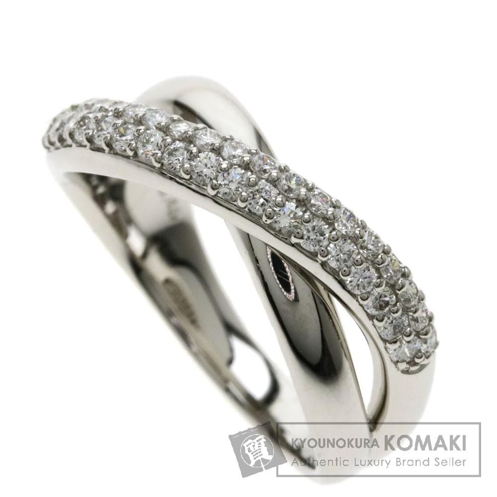 0.45ct メレダイヤモンド リング・指輪 プラチナPT900 8.3g レディース 【中古】