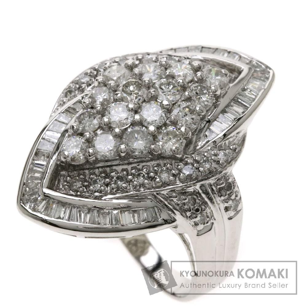 2ct メレダイヤモンド リング・指輪 プラチナPT900 11.5g レディース 【中古】