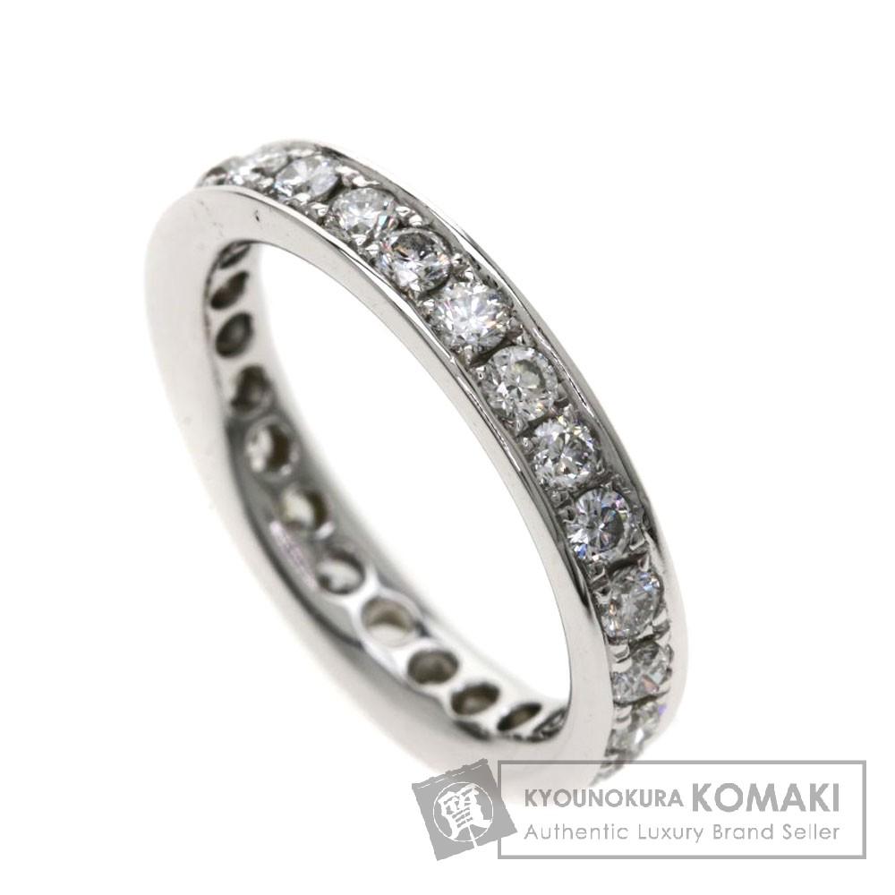 0.63ct ダイヤモンド/エタニティデザイン リング・指輪 K18ホワイトゴールド 2.4g レディース 【中古】