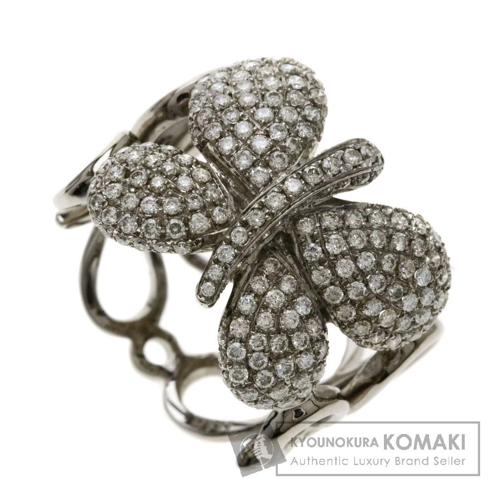 1.11ct メレダイヤモンド/バタフライ リング・指輪 K18ホワイトゴールド 7.9g レディース 【中古】