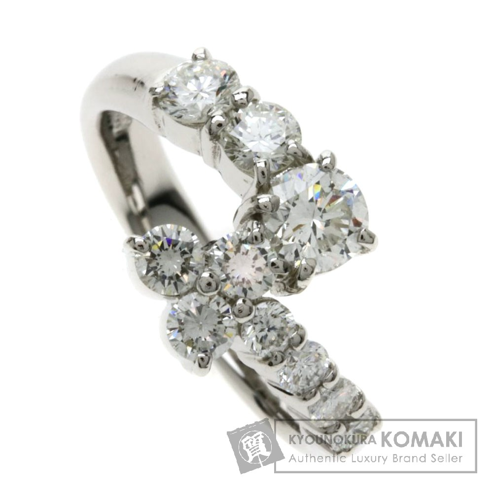 1ct ダイヤモンド リング・指輪 プラチナPT900 5.4g レディース 【中古】