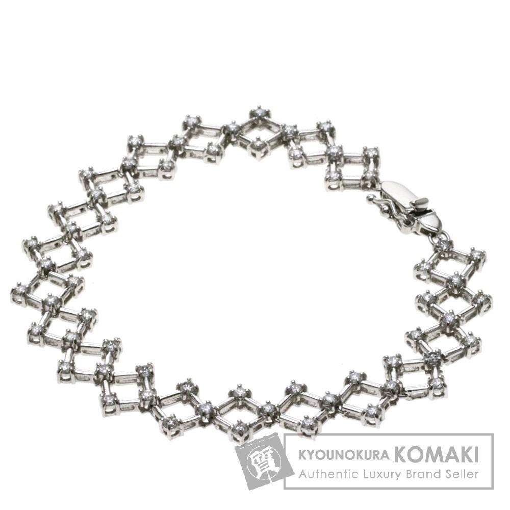 1.89ct ダイヤモンド/ダイヤモチーフ ブレスレット プラチナPT850 16g レディース 【中古】