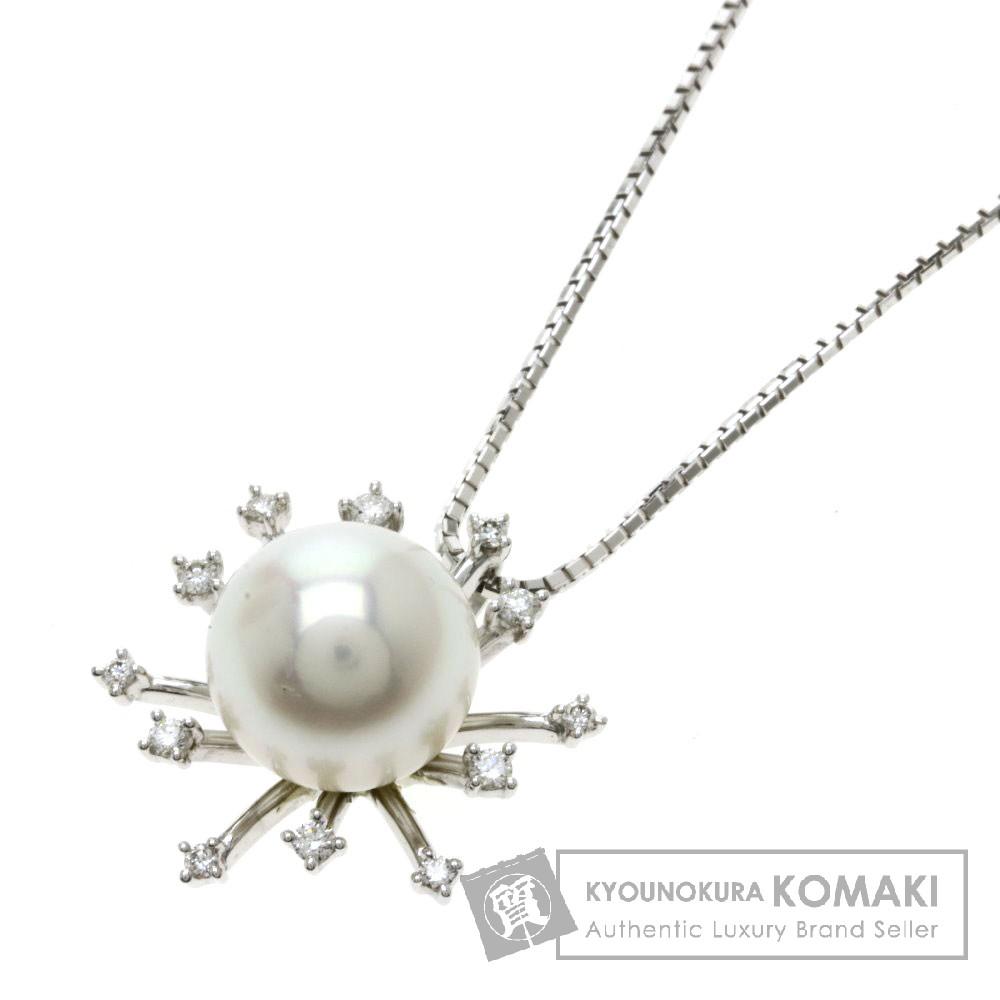 TASAKI パール/真珠/ダイヤモンド ネックレス K18ホワイトゴールド レディース 【中古】【タサキ】