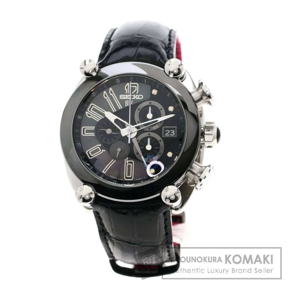 SEIKO SBLA091 ガランテ 5R86-0AR0  腕時計 ステンレススチール/レザー メンズ 【中古】【セイコー】