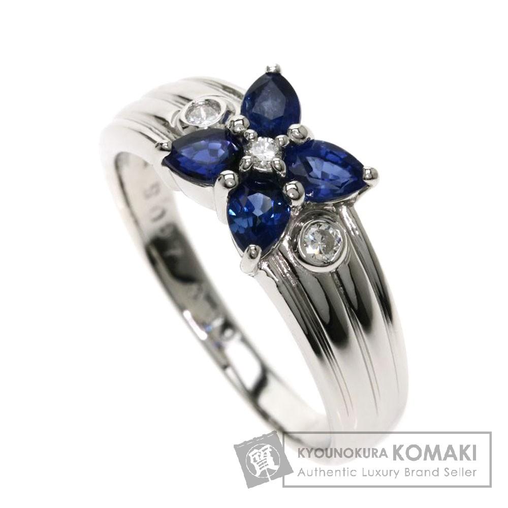 0.87ct サファイア/ダイヤモンド リング・指輪 プラチナPT900 7.2g レディース 【中古】