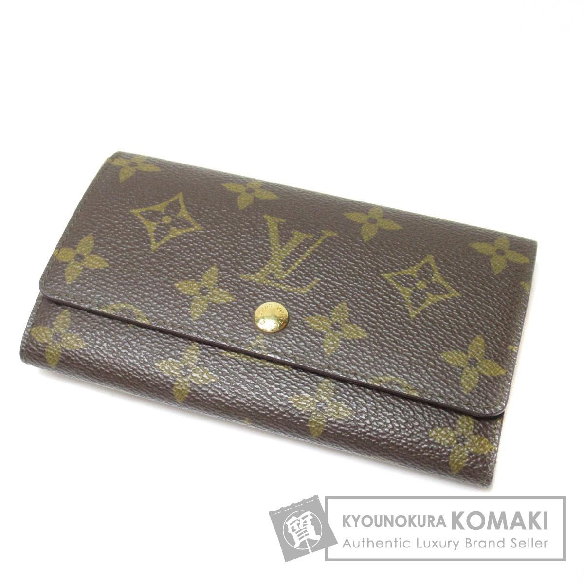 ルイヴィトン M61735 ポルトモネジップ 二つ折り財布(小銭入れあり) モノグラムキャンバス ユニセックス 【中古】 【LOUIS VUITTON】