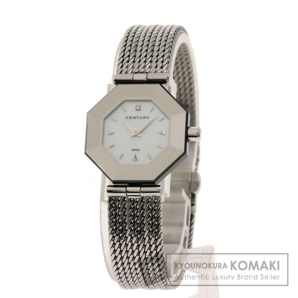 CENTURY タイムジェム/1Pダイヤモンド 腕時計 ステンレススチール レディース 【中古】【センチュリー】
