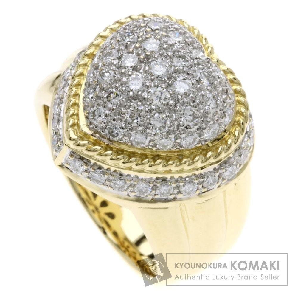 1.27ct ダイヤモンド リング・指輪 K18イエローゴールド/K18WG 14.4g レディース 【中古】