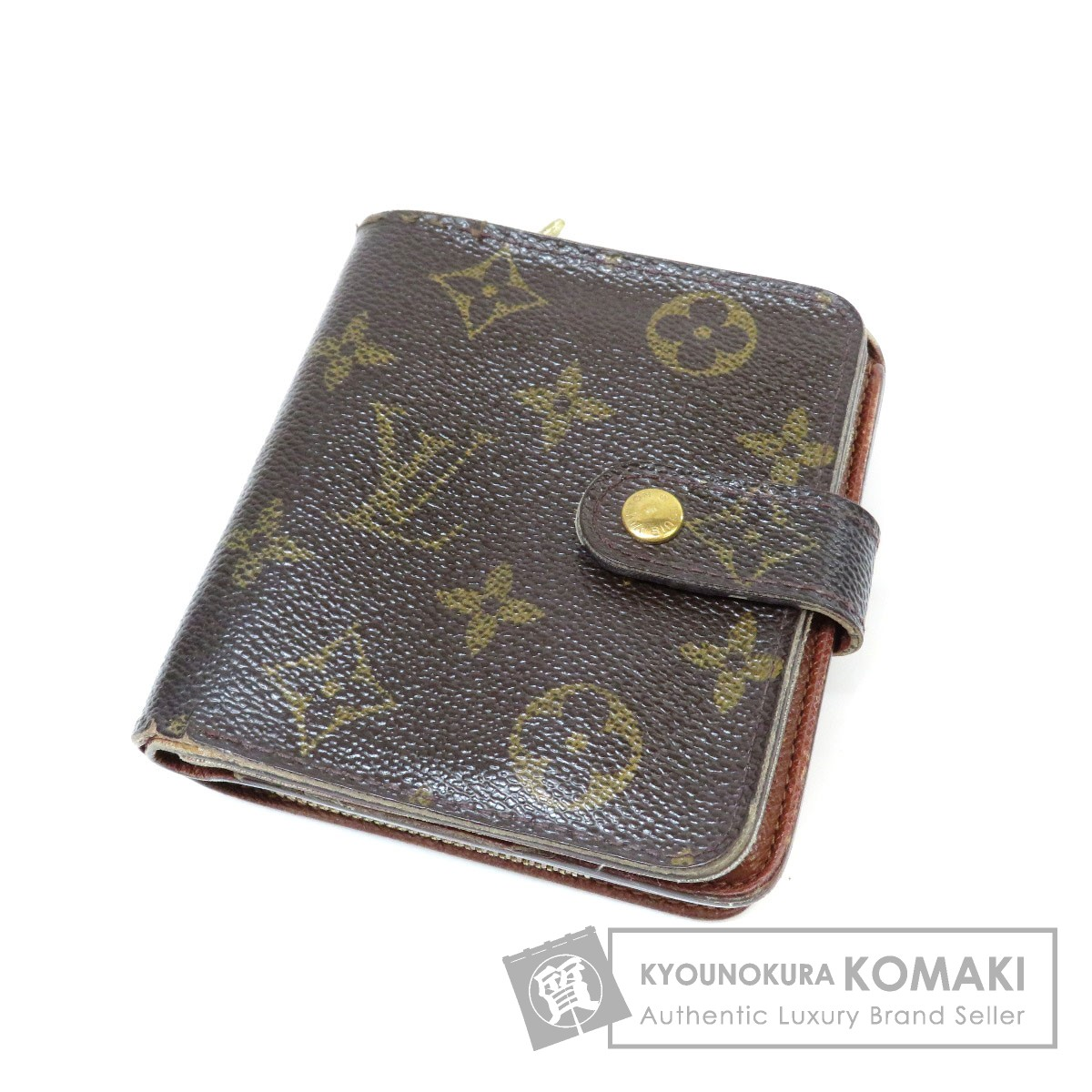 e754c4e14e1f Authentic LOUIS VUITTON M61667 Compact zip Bifold Wallet with Coin Pocket  Monogram canvas