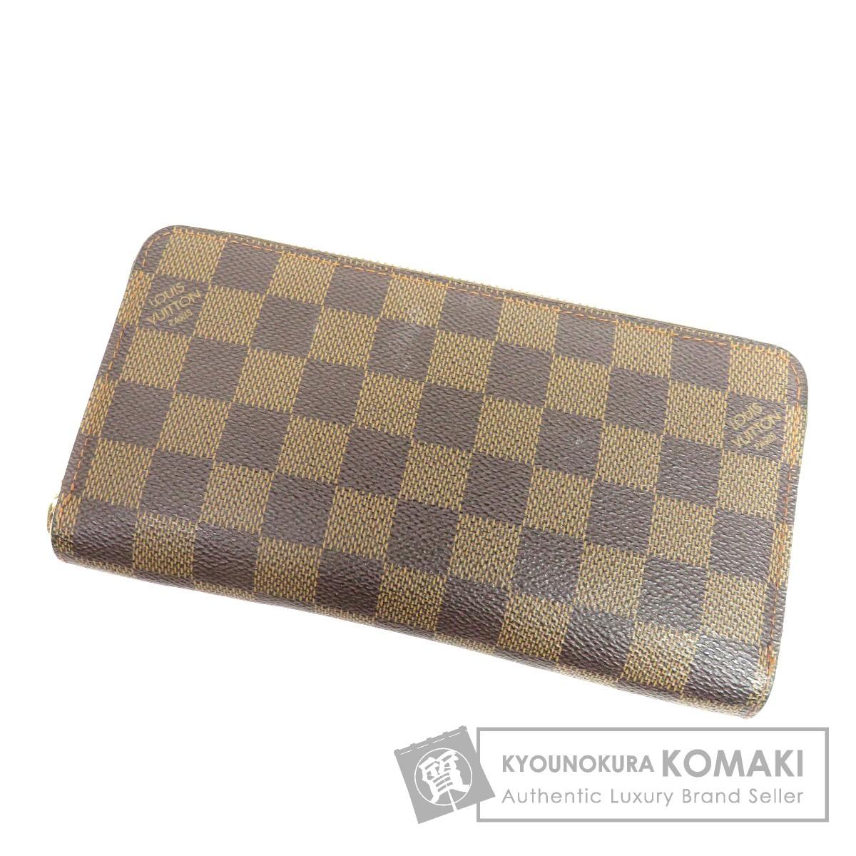 LOUIS VUITTON N60015 ジッピーウォレット 旧型 長財布(小銭入れあり) ダミエキャンバス ユニセックス 【中古】【ルイ・ヴィトン】