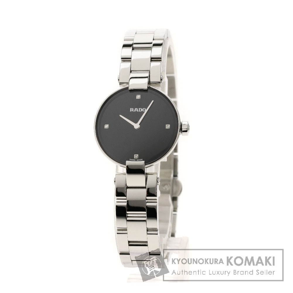 RADO クポール 4Pダイヤモンド 腕時計 ステンレススチール レディース 【中古】【ラドー】