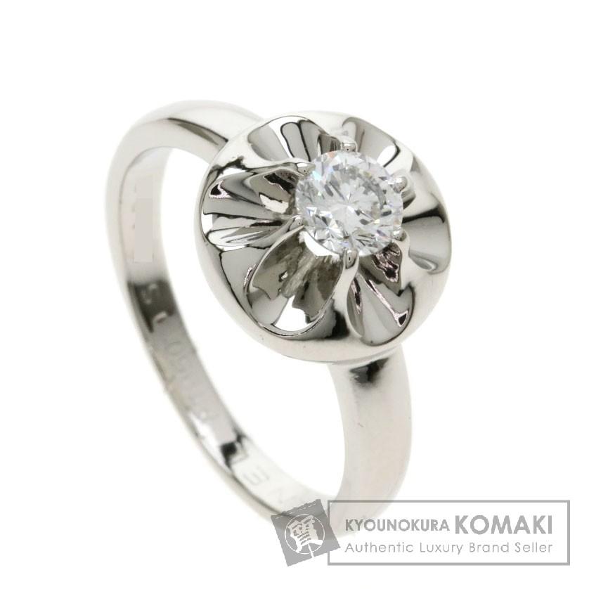 シャネル カメリアリング ダイヤモンド リング・指輪 プラチナPT950 レディース 【中古】 【CHANEL】