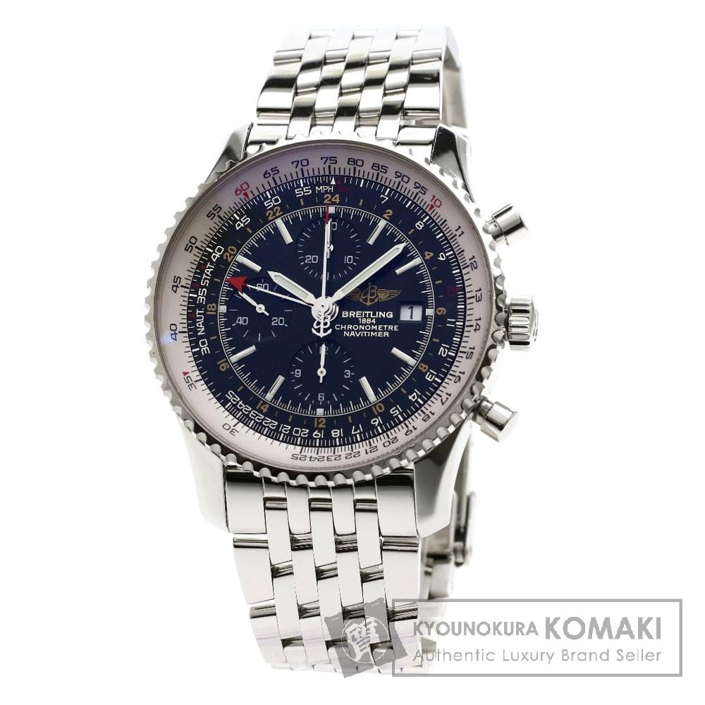 BREITLING A24322 ナビタイマー ワールド 腕時計 ステンレススチール/SS メンズ 【中古】【ブライトリング】