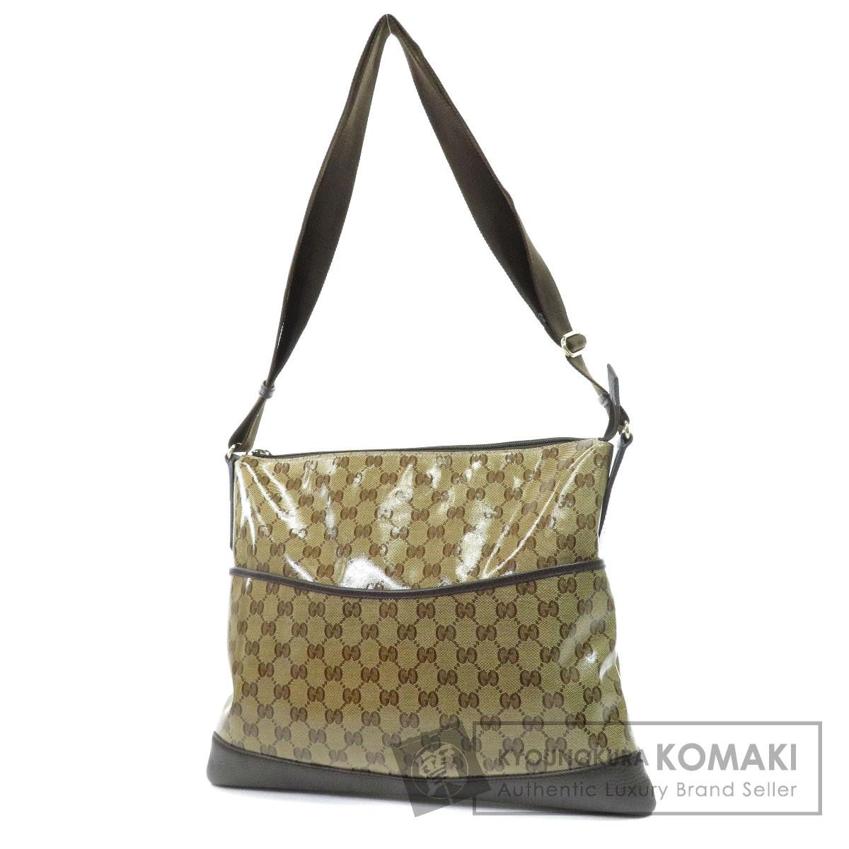c997a6027df7 Authentic GUCCI 374411 496492 GG Imprime Outlet Shoulder Bag Coated canvas