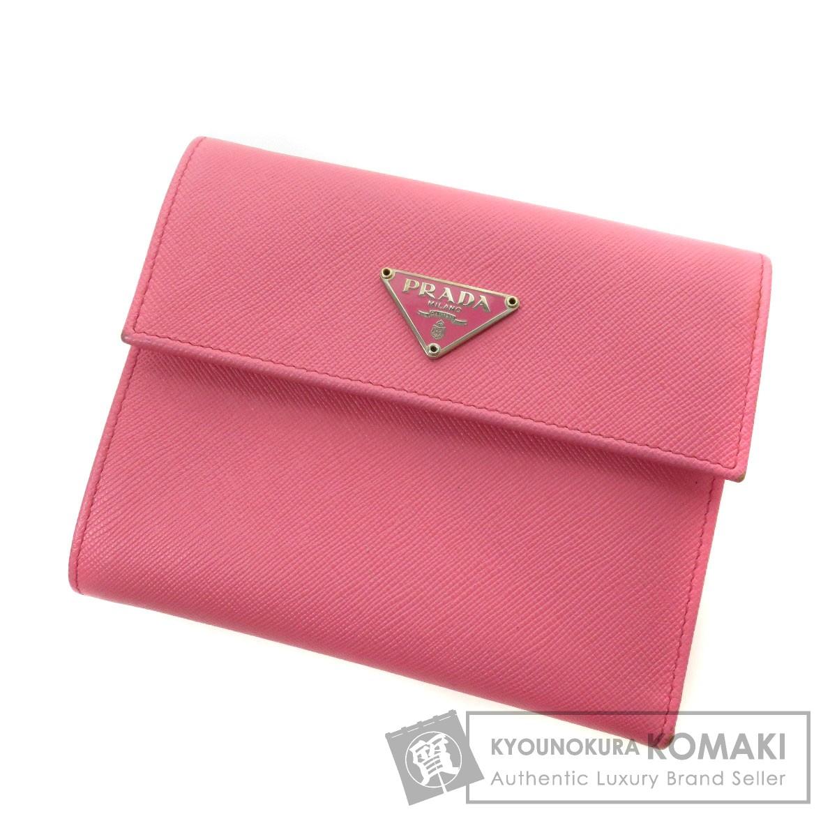 PRADA サフィアーノ 二つ折り財布(小銭入れあり) レザー レディース 【中古】【プラダ】