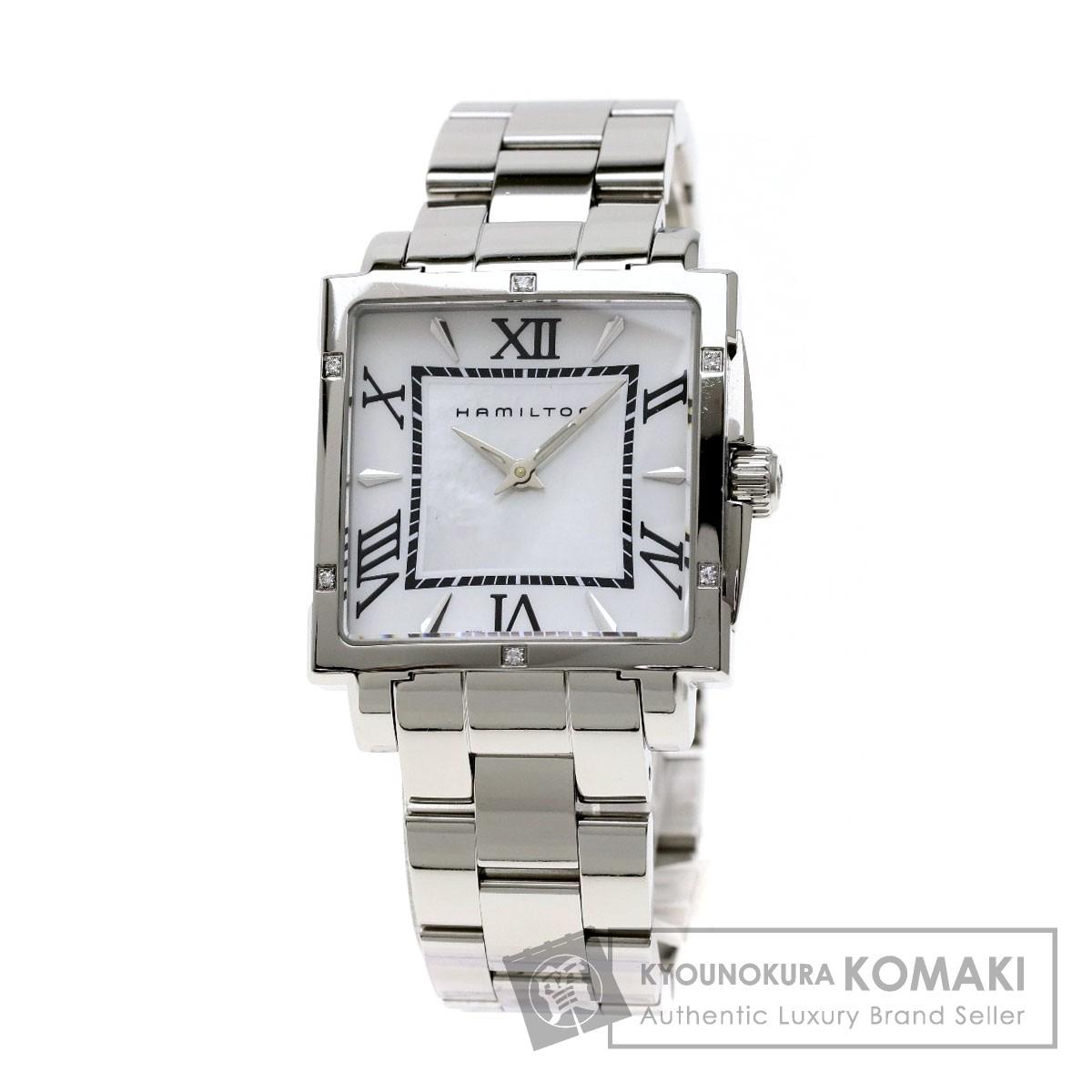 HAMILTON H322910 ジャズマスター 6Pダイヤモンド 腕時計 ステンレススチール/SS レディース 【中古】【ハミルトン】