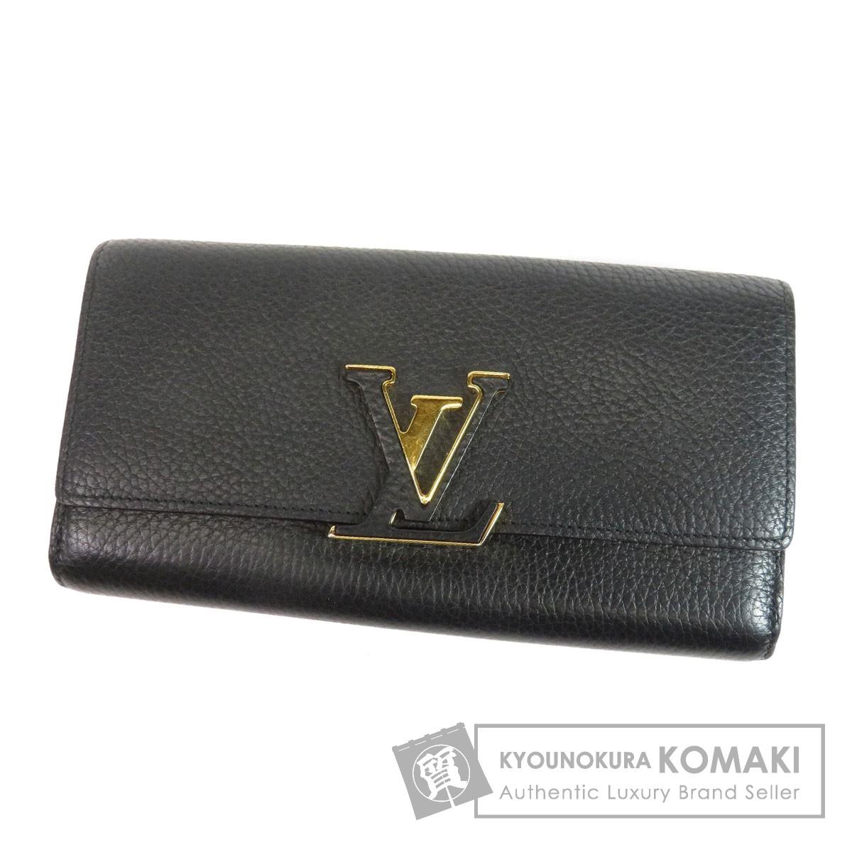 LOUIS VUITTON M61248 カプシーヌ 長財布(小銭入れあり) トリヨン レディース 【中古】【ルイ・ヴィトン】