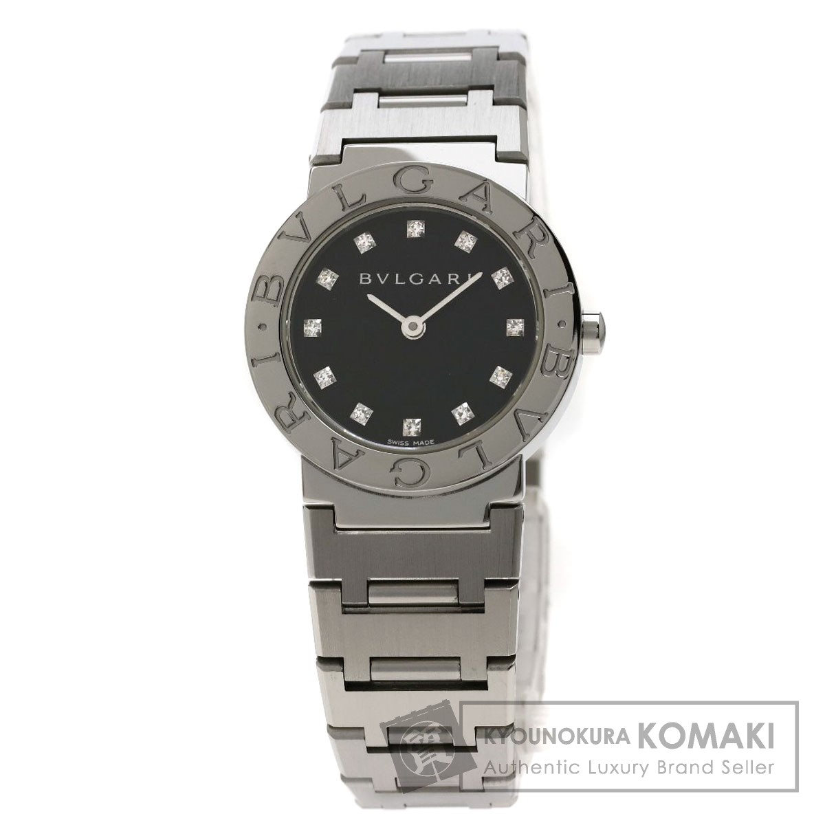 BVLGARI BB26SS ブルガリブルガリ 12Pダイヤモンド 腕時計 ステンレススチール/SS レディース 【中古】【ブルガリ】