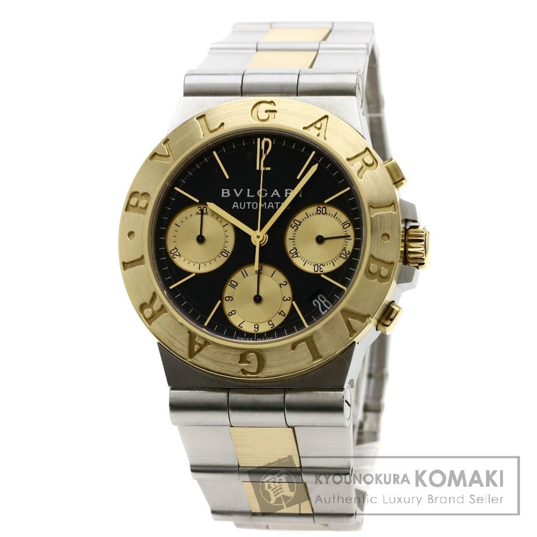 BVLGARI CH35SGD ディアゴノ クロノグラフ 腕時計 OH済 ステンレススチール/SSxK18YG/K18YG メンズ 【中古】【ブルガリ】
